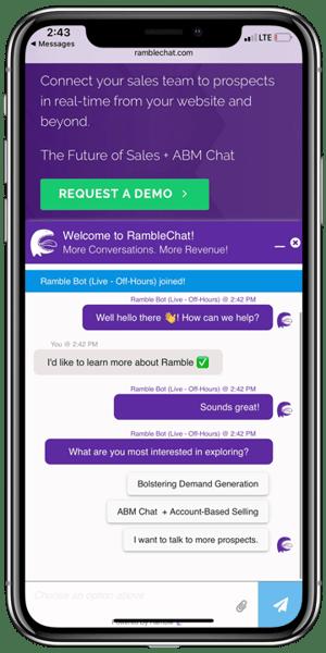 iphoneX-RambleBot